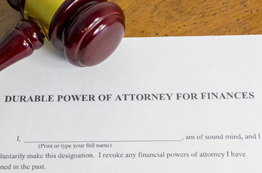 Document titled Durable Power of Attorney for Finances